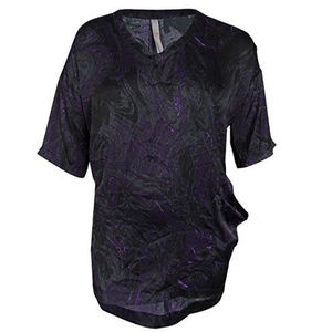 NWT Melissa McCarthy Purple Satin Blouse 0X